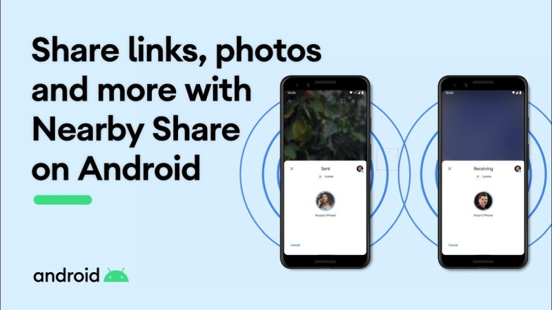 how to use nearby share on android phones