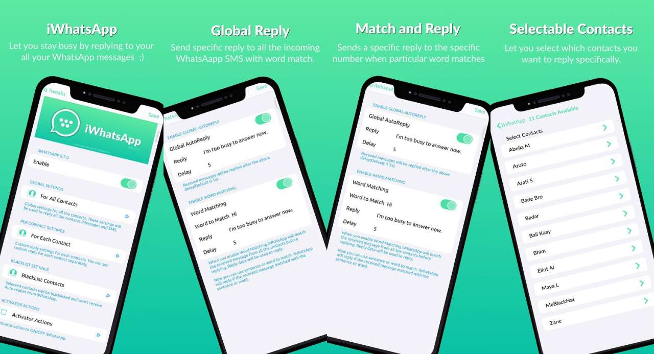 Automatic reply on whatsapp by iwhatsapp