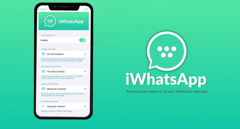 iWhatsApp: Set automatic replies for WhatsApp Messenger