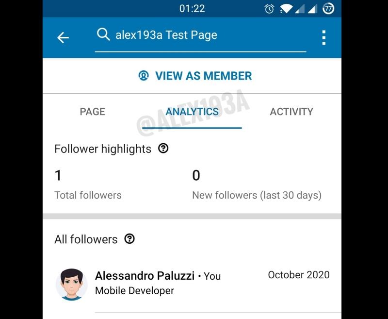 use linkedin analytic in app